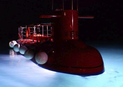 Semi submarine at night